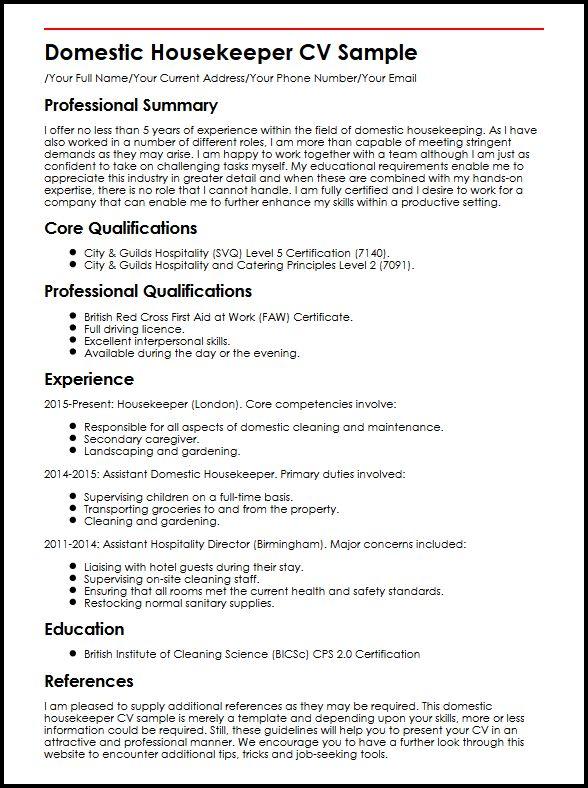 create my resume housekeeping resume sample housekeeping - housekeeping skills for resume