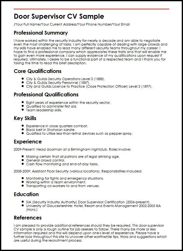 Housekeeper Cv Examples Uk - floor assistant sample resume
