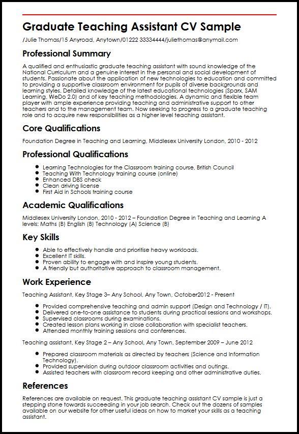Physical education teacher curriculum vitae