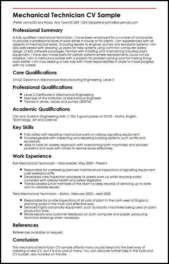 Mechanic Cv Examples Uk - motorcycle mechanic sample resume sample resume