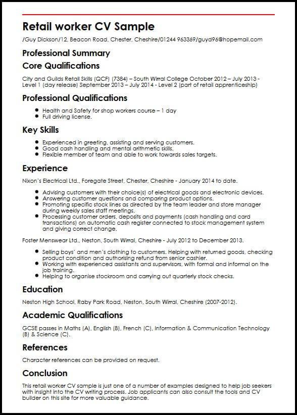 Sample resume operations manager uk professional resumes example sample resume operations manager uk cv writing india retail worker cv sample myperfectcv yelopaper Gallery