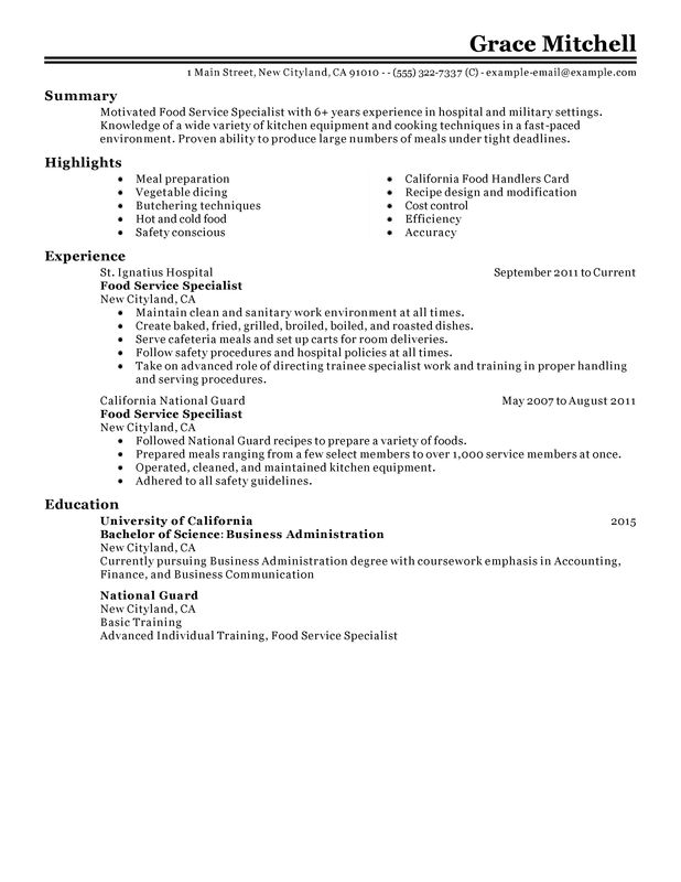 Any advice on my resume, trying to get out of fast food?