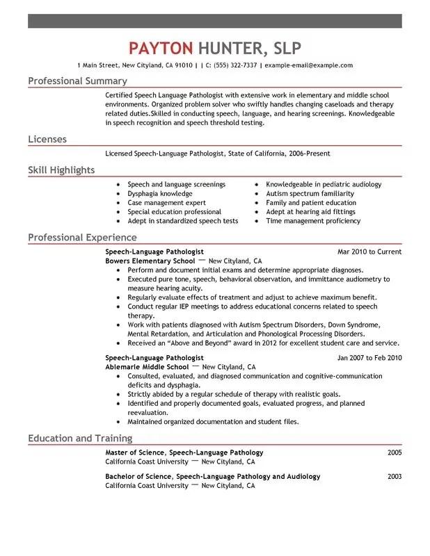 Program Requirements Future Students School Of Unforgettable Speech Language Pathologist Resume Examples