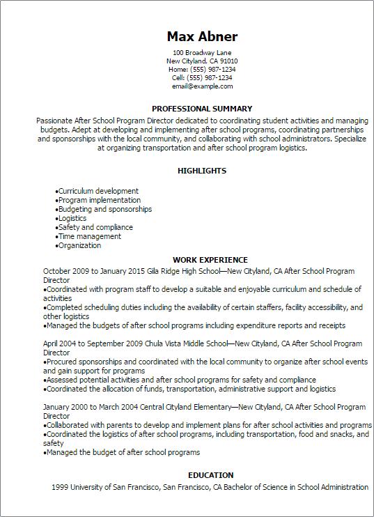 sample resume for nursing director - Nursing Director Resume