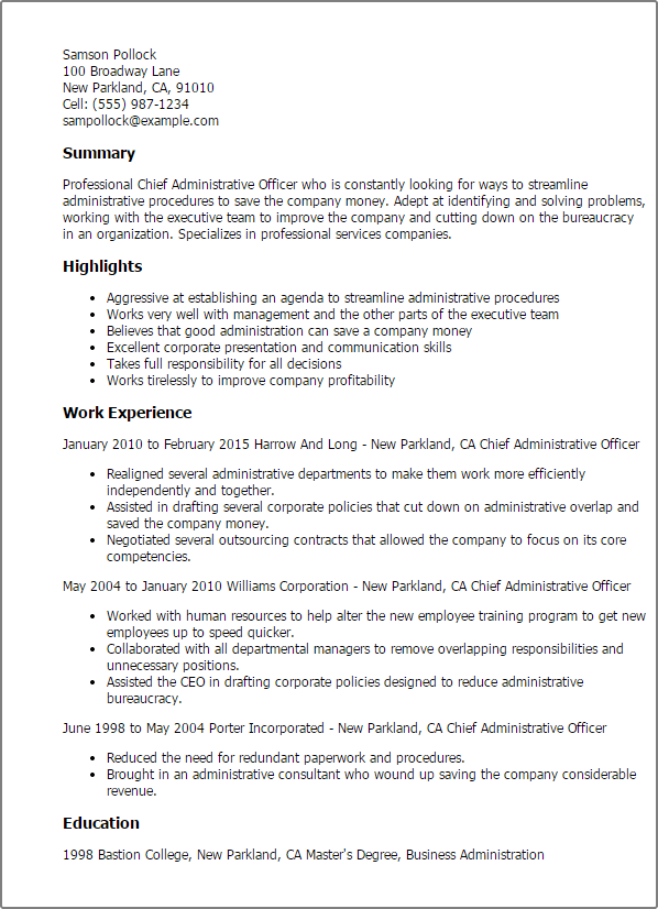 emt resume