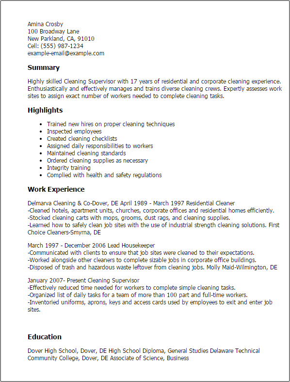 Landscape Maintenance Supervisor Resume | Letter Of Application ...