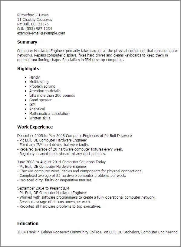 Resume Format Hardware Networking Engineer Cover Letter And Resume Naukri  FastForward