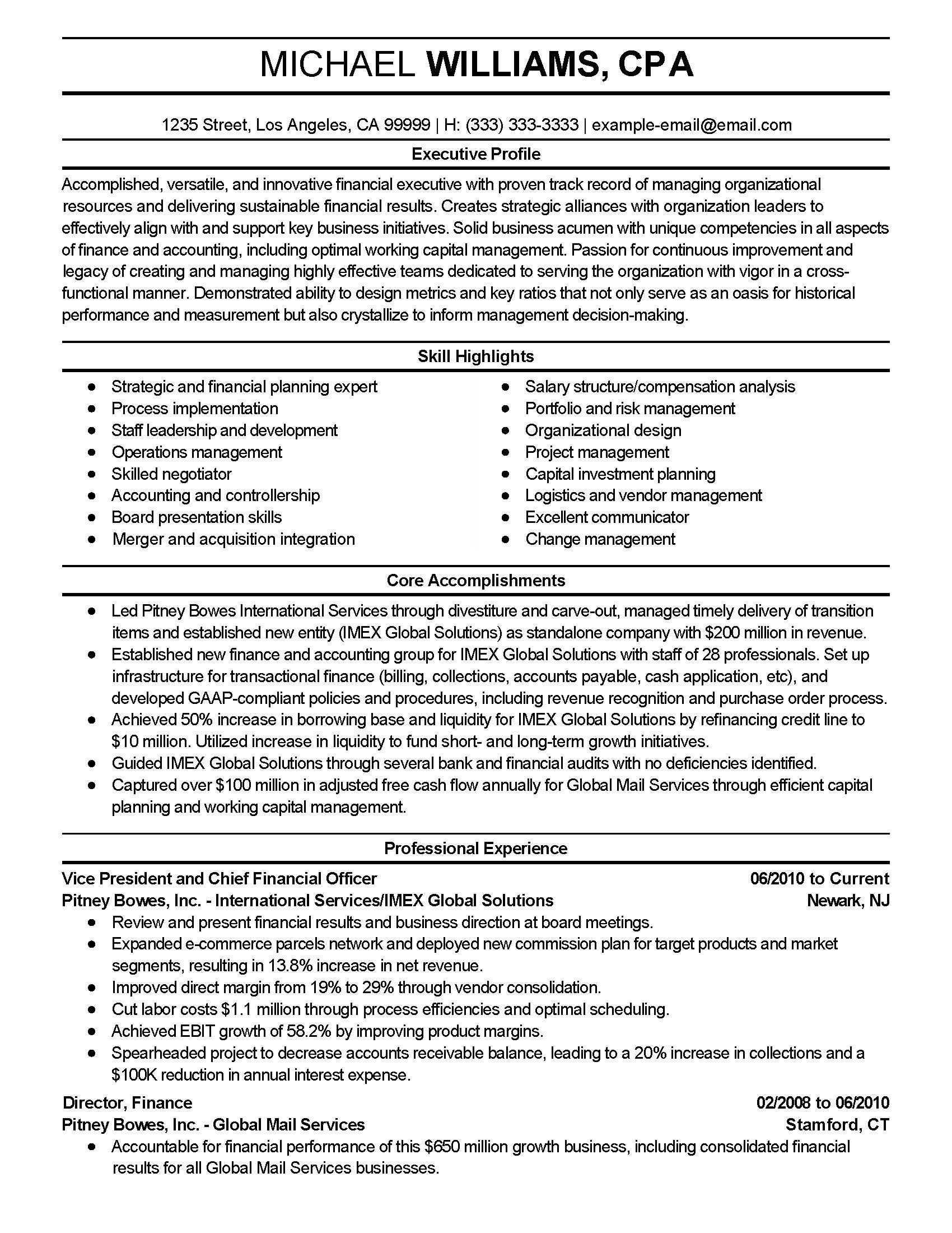 Wharton resume template