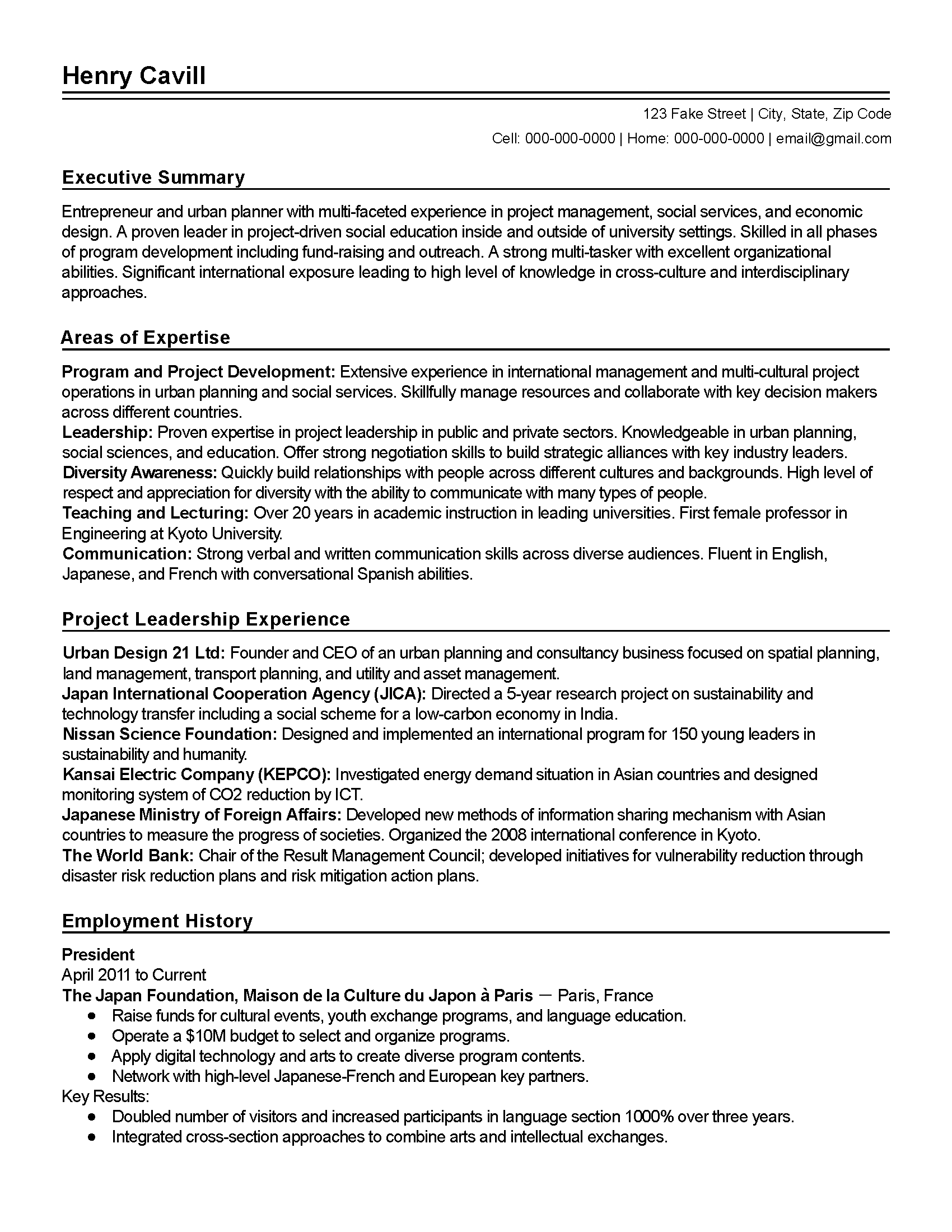 Project Manager Resume Sample Doc Project Management Executive Brefash  Construction Project Manager Resume  Fake Resume Example
