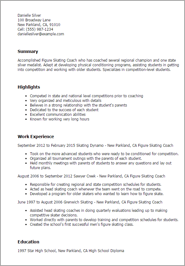 sample resume college student held college student resume tips monster professional figure skating coach templates to