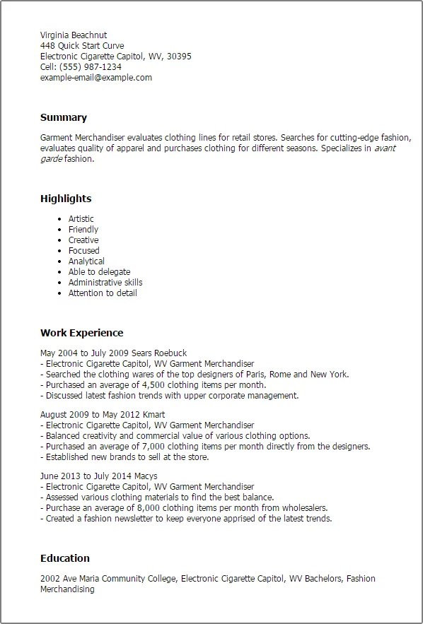 merchandiser job description for resume. Resume Example. Resume CV Cover Letter