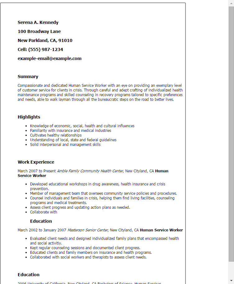 food service job description resumes
