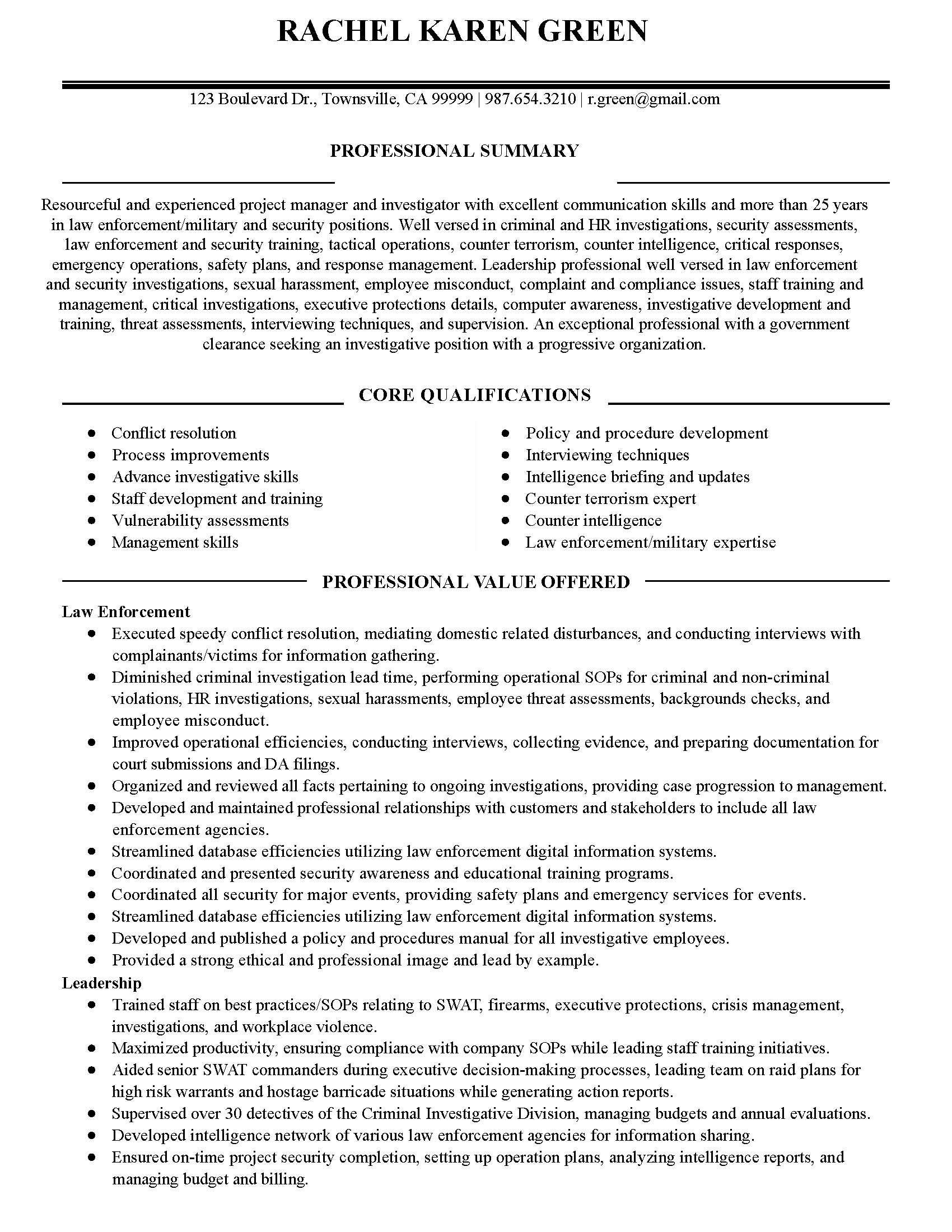 proofreader resume