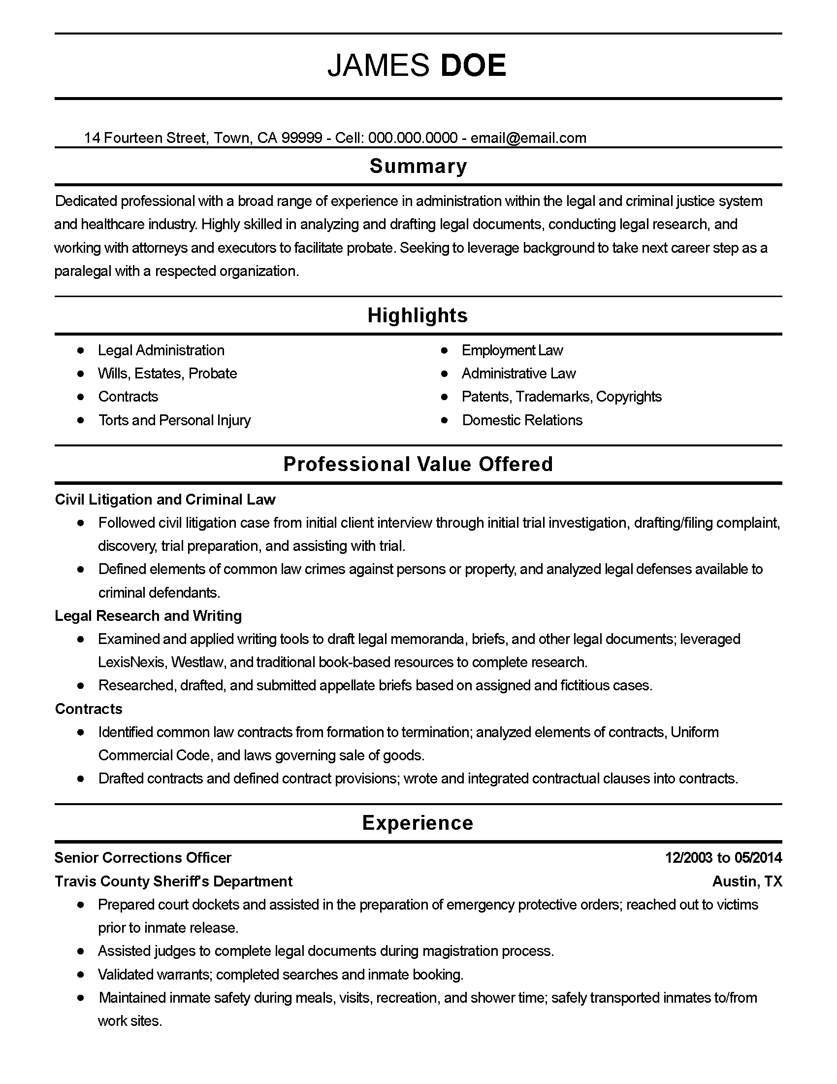 job description for correctional officer resume chief financial officer cfo job description resume glass quality manager - Police Officer Resume Templates