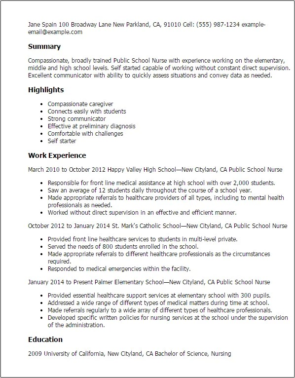 nurse objective resume