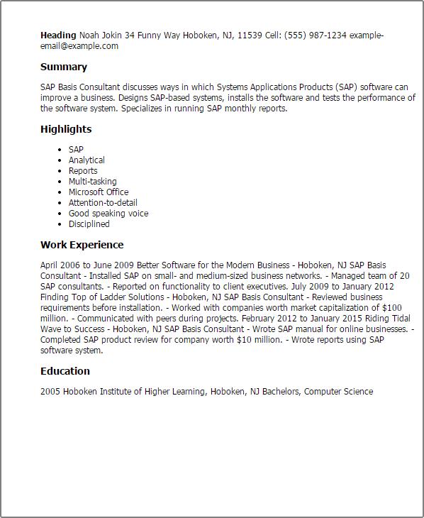 resume of sap mm
