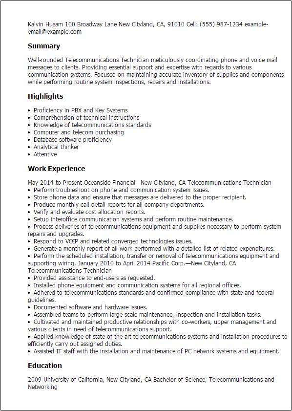 accounting technician resume