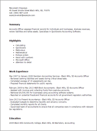 #1 Accounts Officer Resume Templates: Try Them Now ...
