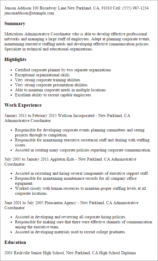 targeted resume templates