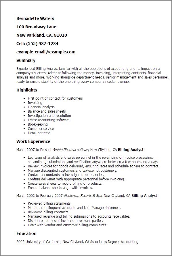 financial analyst resume summary - Business Analyst Resume Summary