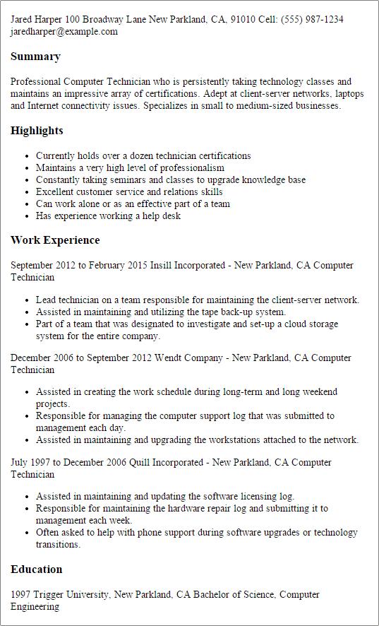 help desk technician job description samples