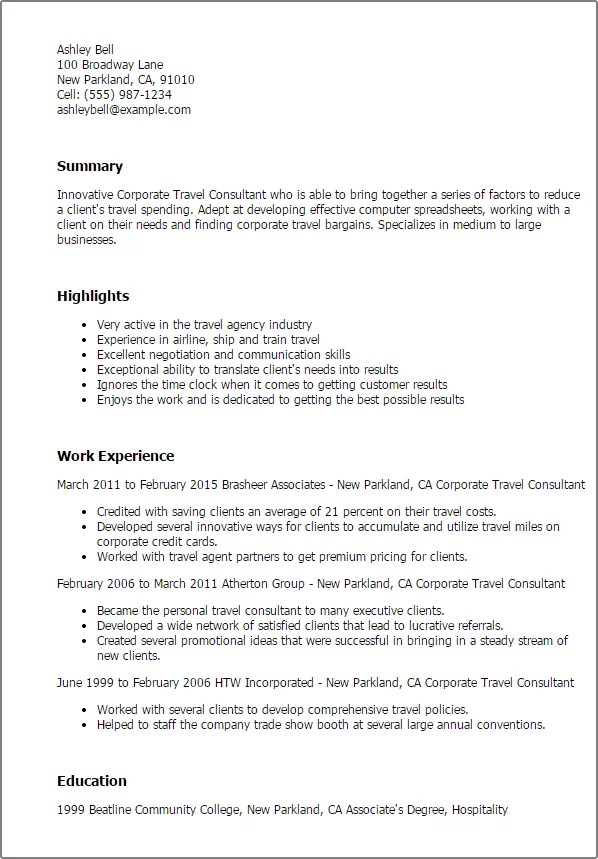 Sample Consultant Resumes 10 Top Consultant Resume Examples Professional Corporate Travel Consultant Templates To