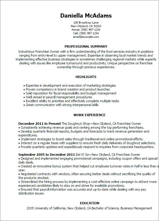 Business Owner Job Description Example Job Descriptions Business Owner Job Description For Resume