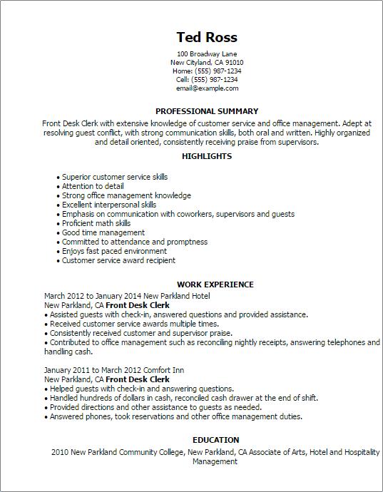 shipping clerk resume example