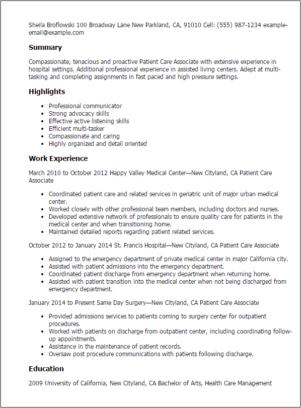 assisted living receptionist resume receptionist resume sample