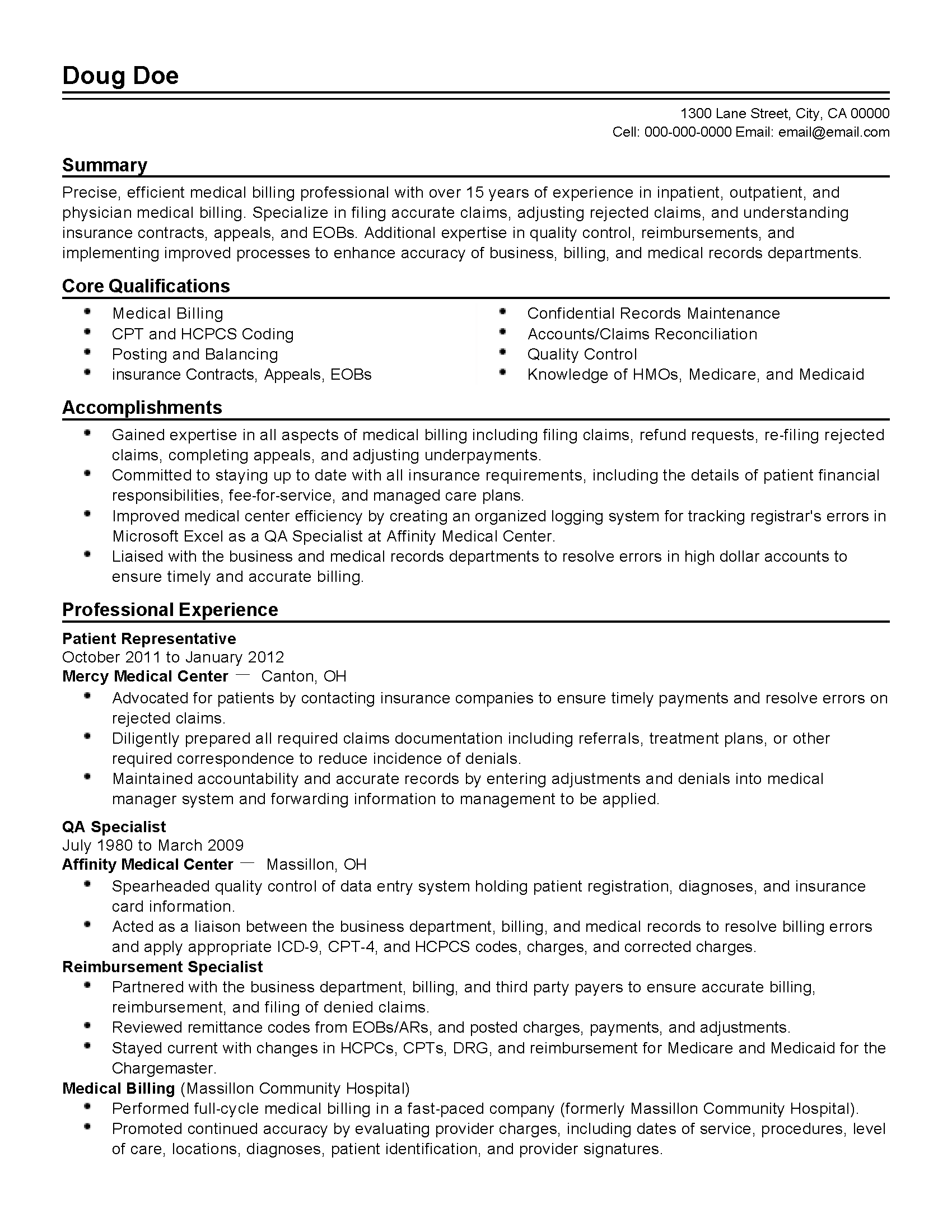 resume Resume Format For Medical Billing assignment ideas smith college libraries resume examples medical wwwisabellelancrayus remarkable legal resumes with handsome break up us billing and coding resumes