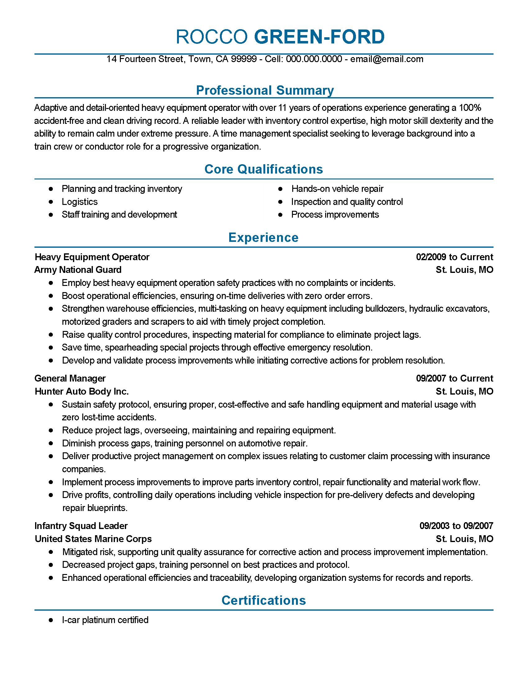 Resume Format Experienced Tele Engineer