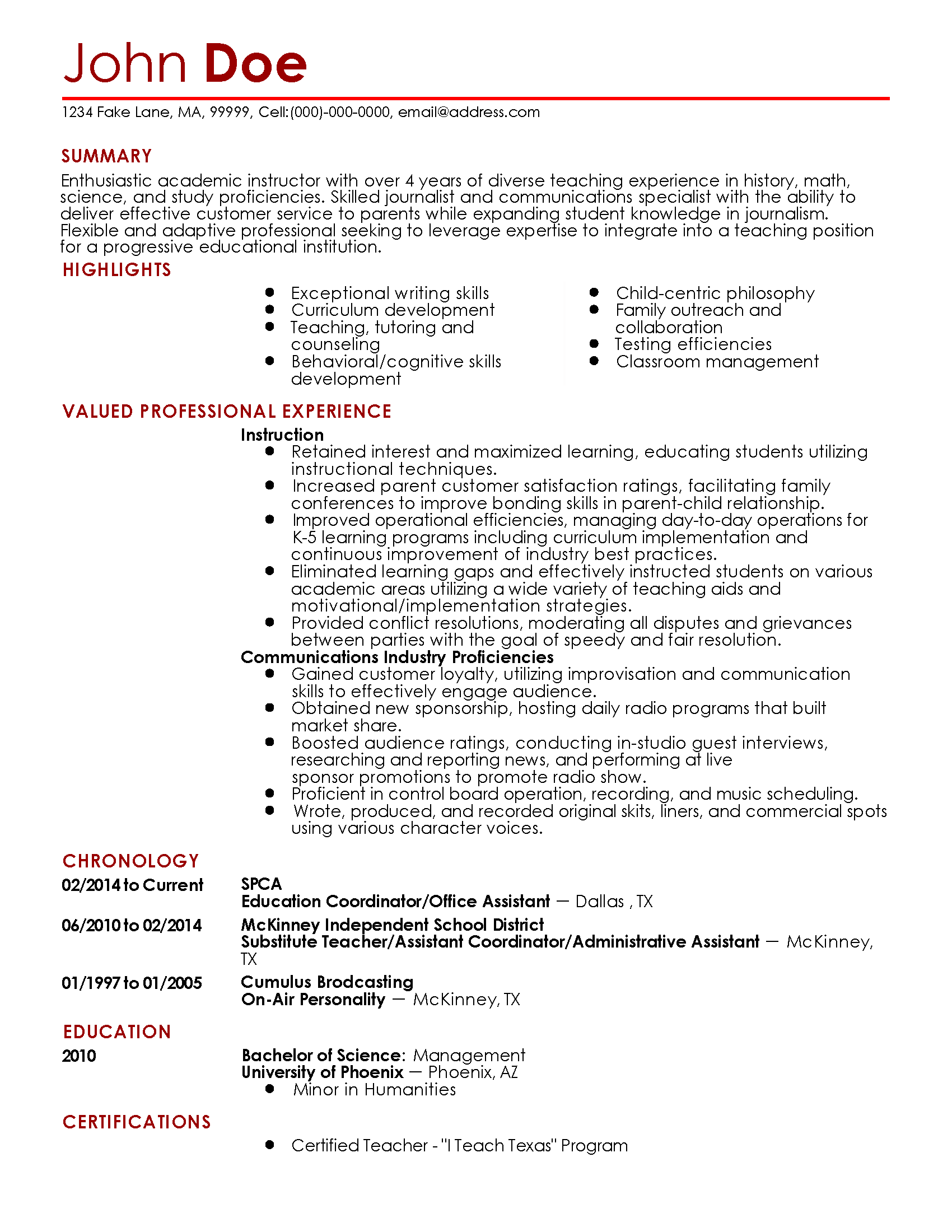 Professional Resume Writing Programs Professional Resume Writing Services  Resumesplanet Professional Journalism Teacher Templates To Showcase Your