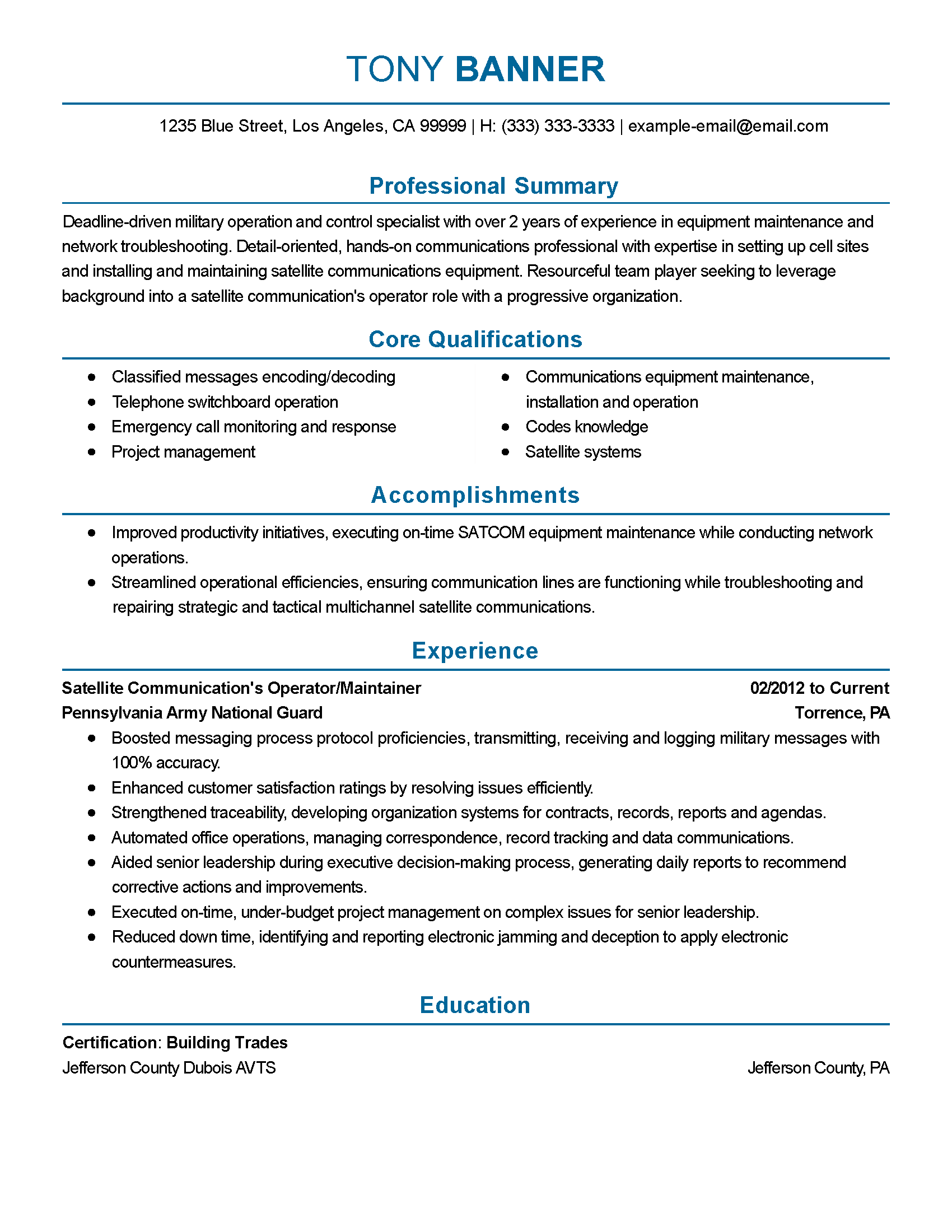 Skills Usa Resume Template  Online Writing Lab