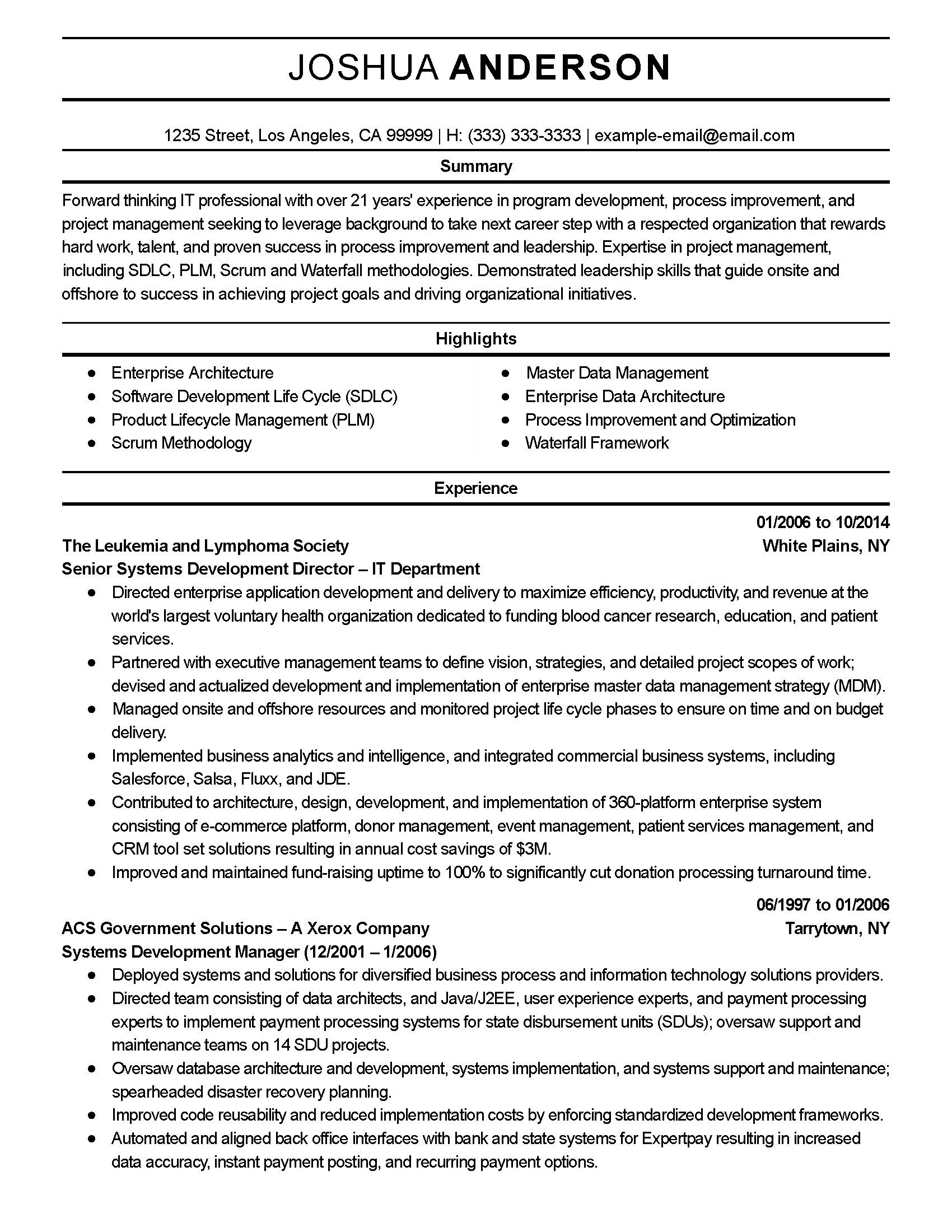 Oracle Dba Sample Resume For 2 Years Experience Job Application