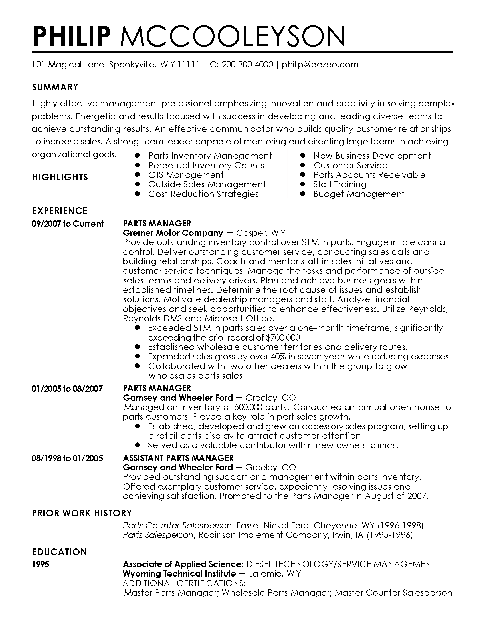 accounts receivable manager resumes
