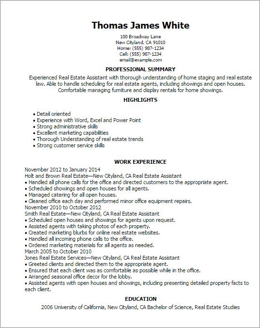sample entry level real estate resume best resumes curiculum