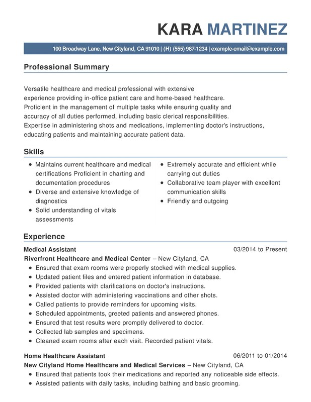 Healthcare  Medical Functional Resumes - Resume Help - medical resume example