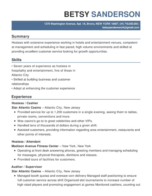 Casino Customer Service Resume - Maryland Live - Customer Service