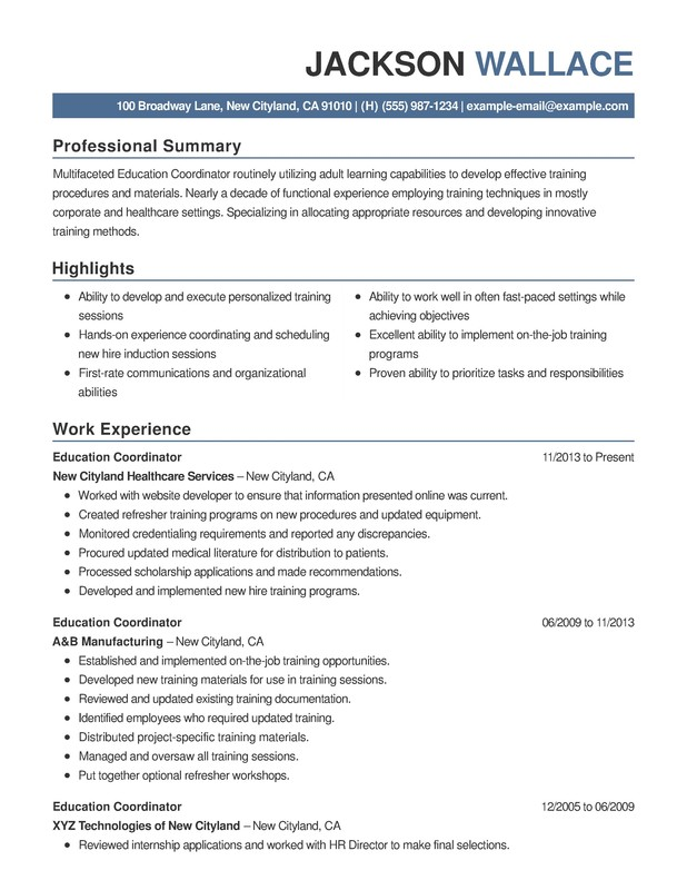 Education Combination Resume - Resume Help