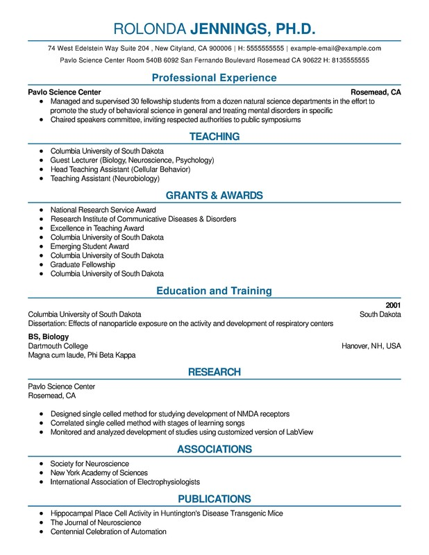 Science Combination Resume - Resume Help