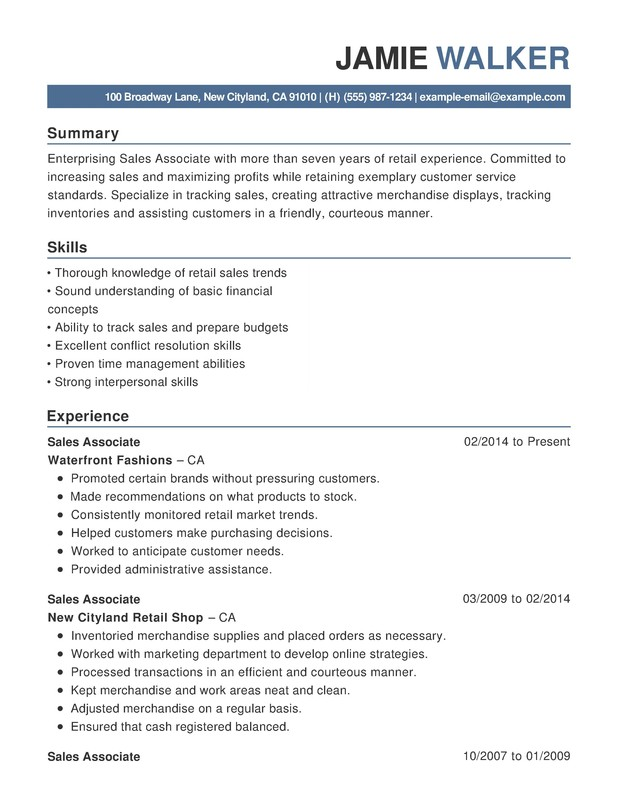 Customer Service Functional Resumes - Resume Help - customer service retail sample resume