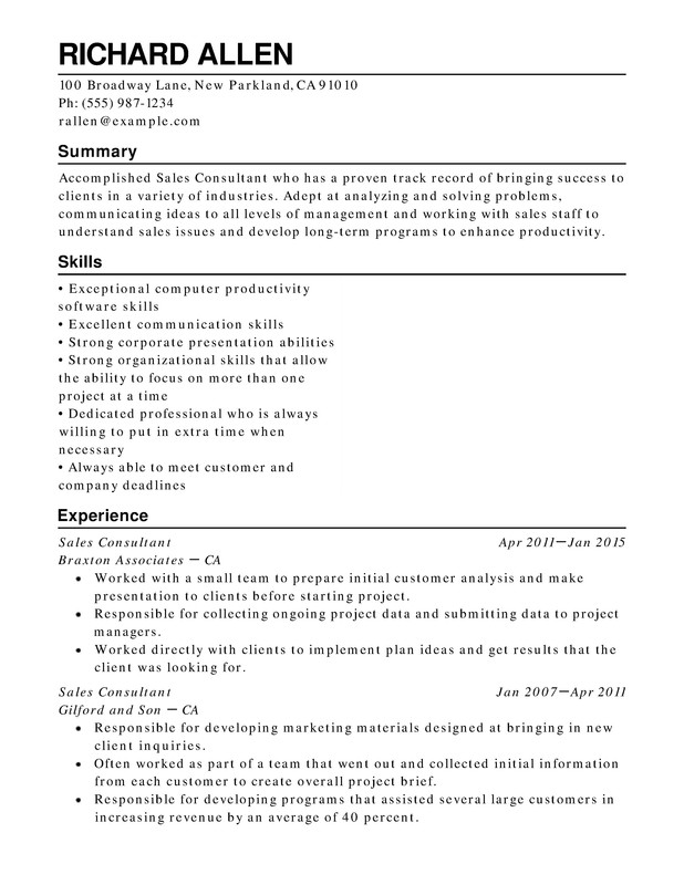 Retail Functional Resumes - Resume Help