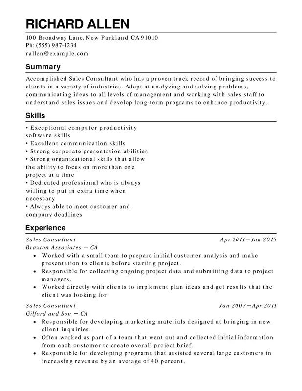 professional strengths resume examples
