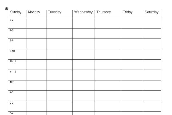 Schedule Planners \u2013 Academic Support Center