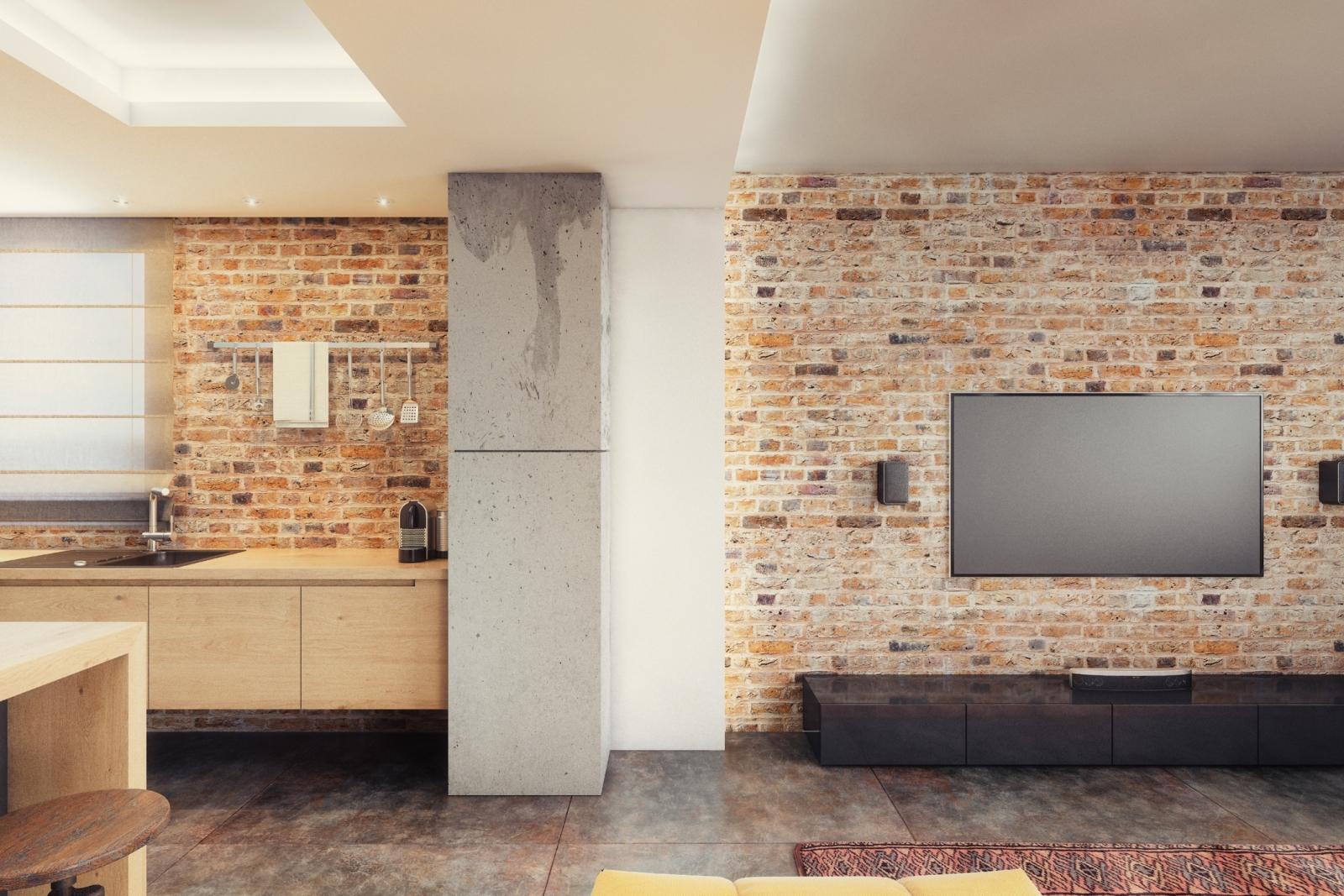 Brick Wall Design How To Hang Things On Brick Advice For Shelves Tvs Etc
