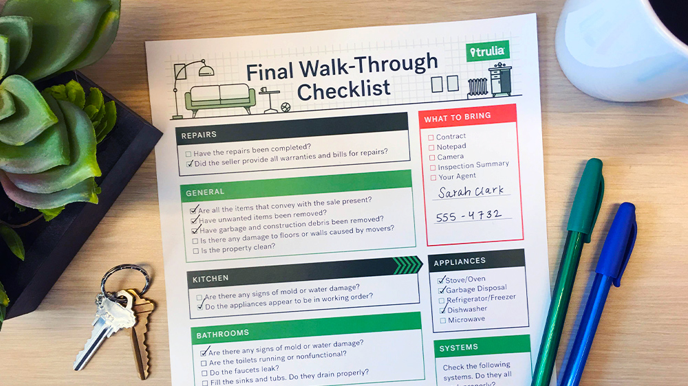 Final Walk-Through Checklist - What to Look For Before You Buy Trulia