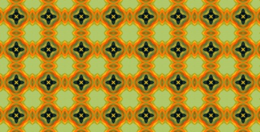 Circles Orange Pattern