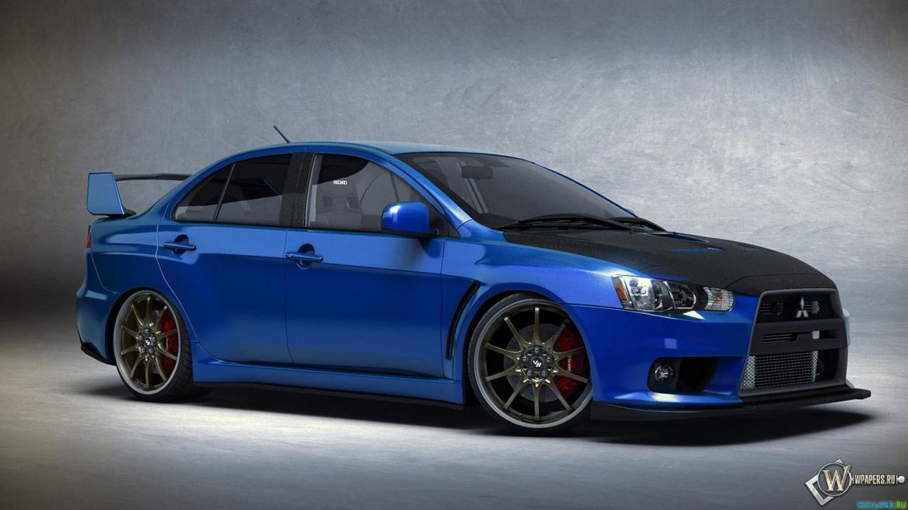 Mitsubishi Evo 9 Hd Wallpaper Скачать обои Синий Mitsubishi Lancer Evo Синий