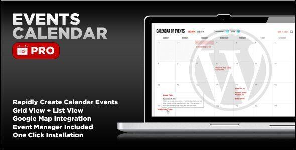 Events Calendar WordPress Plugin