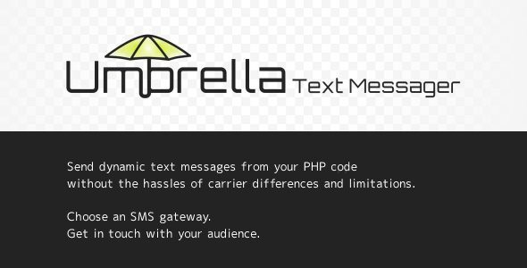 Umbrella Text Messager
